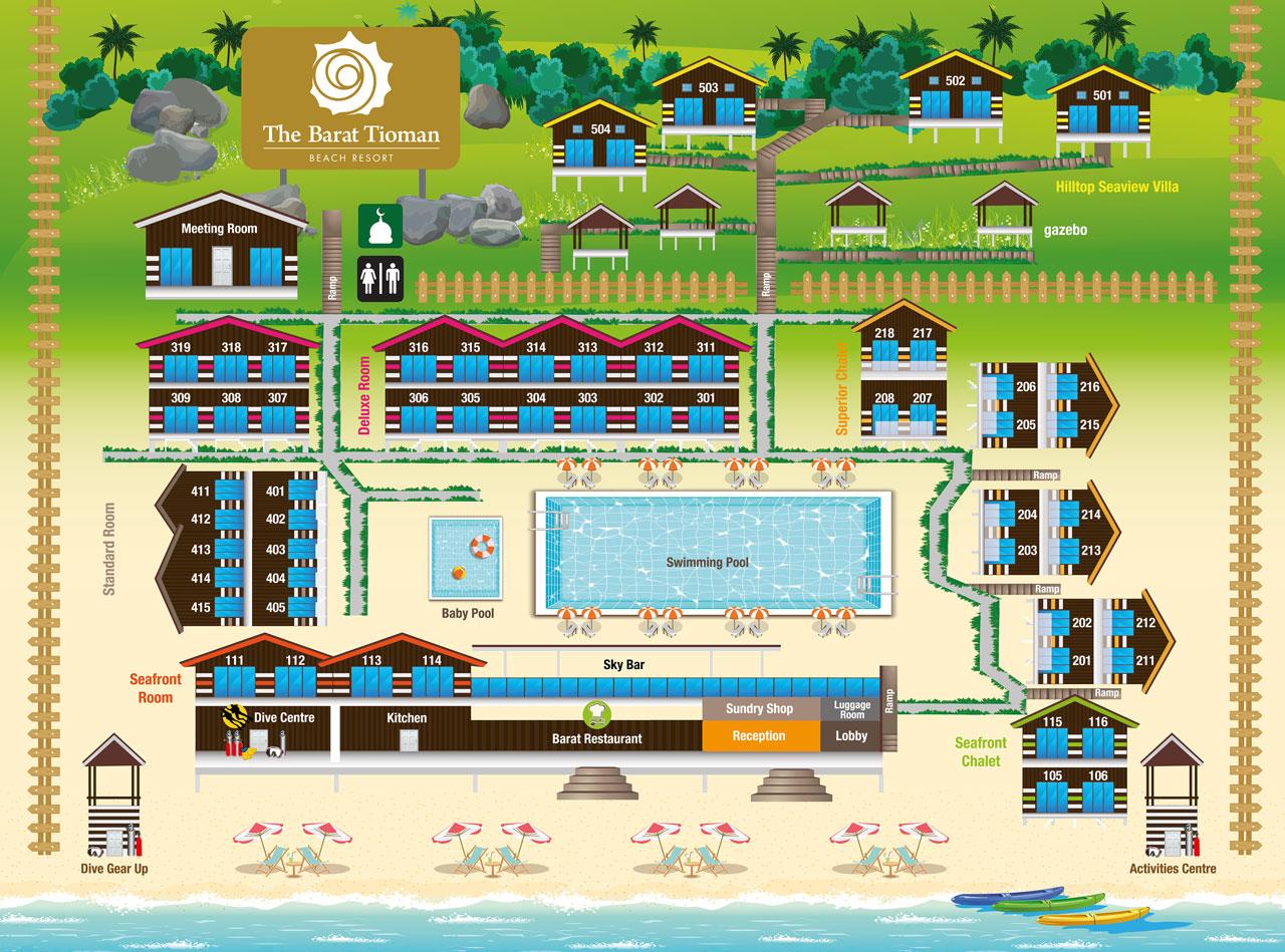 About Barat Tioman  U2013 Barat Tioman Beach Resort